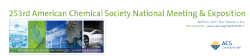 253rd American Chemical Society National Meeting & Exposition
